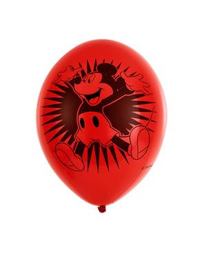 Sett med 6 Mikke Mus fest latex ballonger