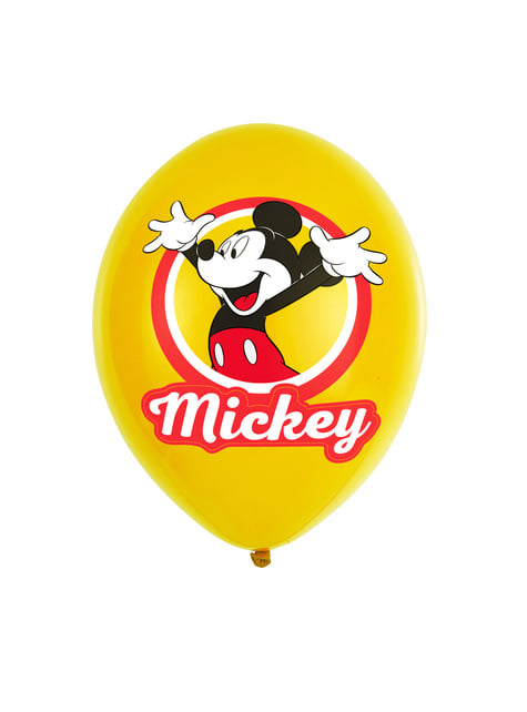 Happy Mickey Mouse Latex Luftballon Set 6-teilig