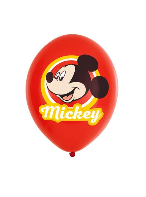 Conjunto de 6 balões de látex Mickey Mouse Feliz
