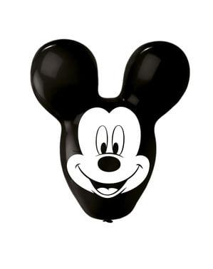 Sæt af 4 Mickey Mouse formede latex balloner