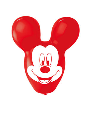 4 ballons en latex en forme de Mickey Mouse