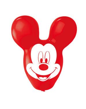 Sett med 4 Mikke Mus formet latex ballonger