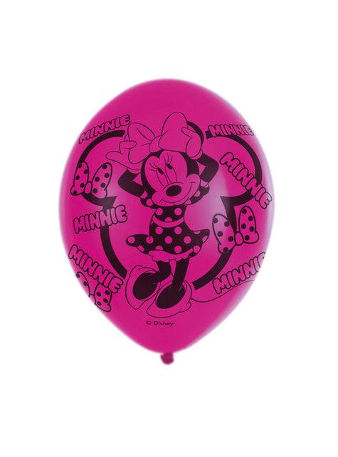 Conjunto de 6 balões de látex de Minnie Mouse
