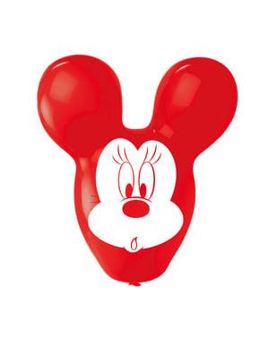 4 Minnie vormige latex ballonnen (56 cm)