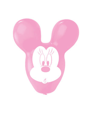 4 Minnie shaped latex balloons (56 cm)