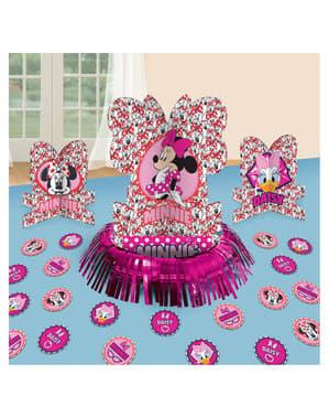 Conjunto de decoração de mesa de Minnie Mouse