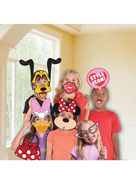 12 accessoires pour Photo booth Minnie Mouse