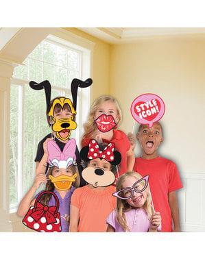 Sæt med 12 Minnie Mouse tilbehør til photocall