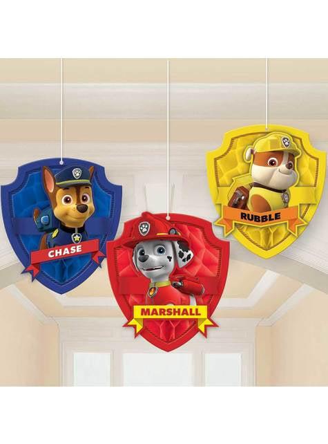 3 pupazzi pendenti di Paw Patrol
