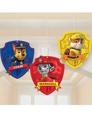 3 hangende Paw Patrol decoraties