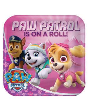 Sett med 8 store Paw Patrol tallerkener