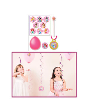 8 balões com varinhas de Princesas Disney