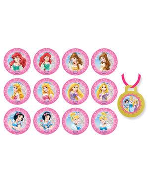 Sett med 8 Disney Prinsesser ballonger med tryllestav