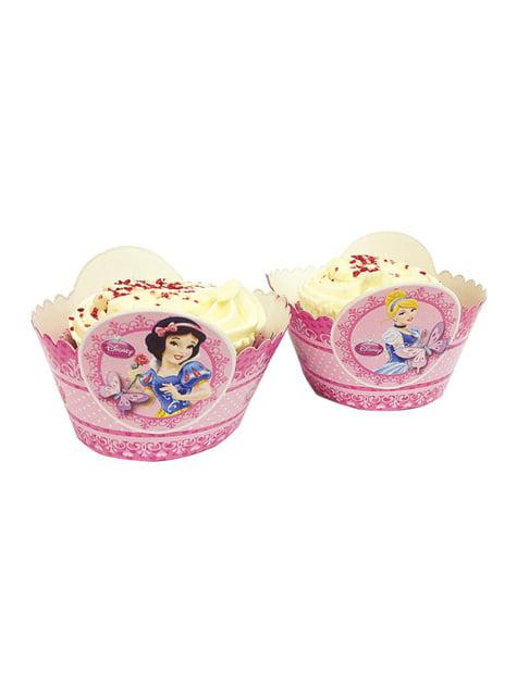 Conjunto de 8 bases para Cup Cakes de Princesas Disney
