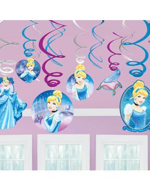 12 enfeites pingentes de Cinderela