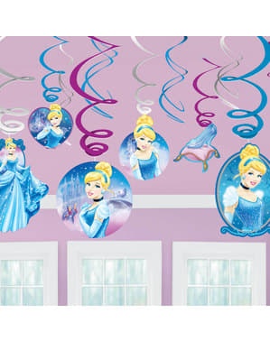 Set van 12 Assepoester hang decoraties