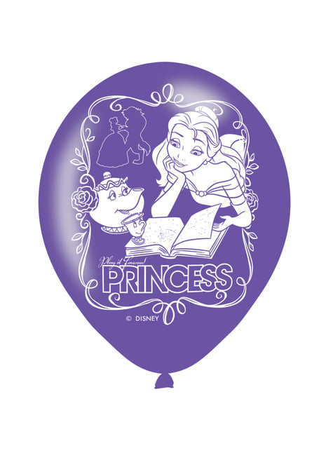 6 Disney Princesses latex balloons (28 cm)