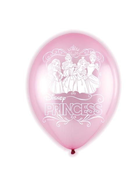 5 balões cor-de-rosa de látex LED de Princesas (28 cm)