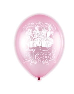 5 ballons roses en latex LED Princesses
