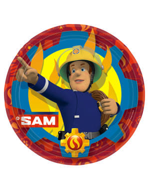 8 pratos grandes de O Bombeiro Sam (23 cm)