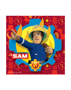 20 guardanapos de O Bombeiro Sam (33x33 cm)