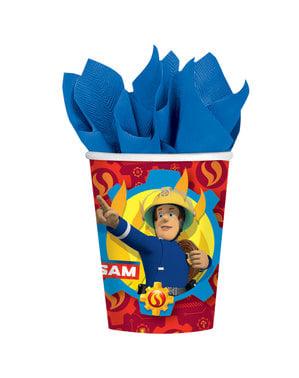 8 Fireman Sam cups