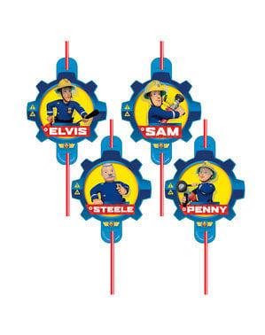 8 Fireman Sam straws