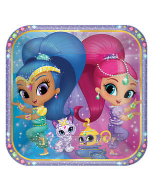 8 big Shimmer and Shine plates (23 cm)