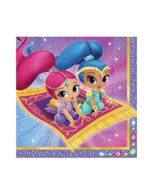 16 Shimmer and Shine napkings (33x33 cm)