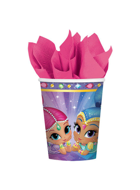8 Shimmer and Shine cups