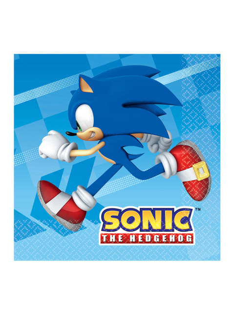 16 servilletas de Sonic (33x33 cm)