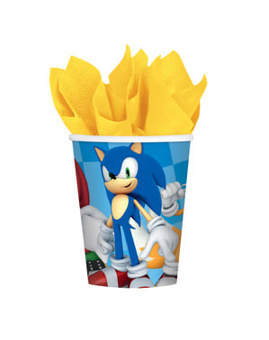 Set of 8 Sonic cups