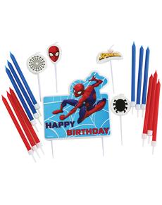 Set de 17 velas de Spiderman