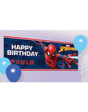Spanduk Selamat Ulang Tahun Spiderman yang Dapat Disesuaikan