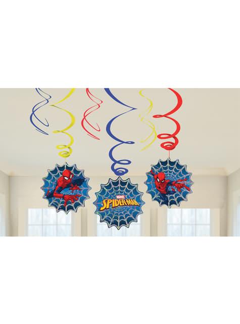 6 hangende Spiderman decoraties