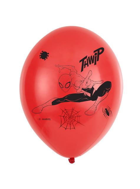6 ballons en latex Spiderman