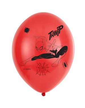 6 Örümcek Adam lateks balon seti