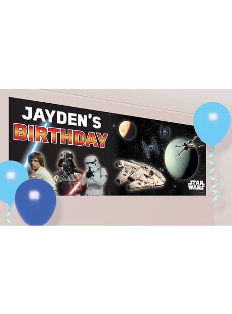 Aanpasbare Star Wars verjaardags slinger