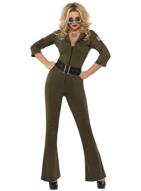 Déguisement d'aviateur de Top Gun pour femme