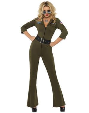 Top Gun Kvinnlig pilot Maskeraddräkt Vuxen