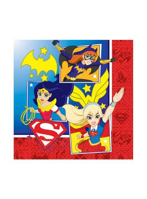 Set of 16 DC Super Hero Girls napkings
