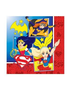 Sett med 16 DC Superhelt Girls servietter