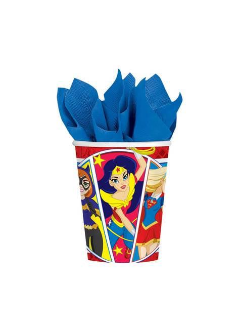 8 DC Super Hero Girls cups