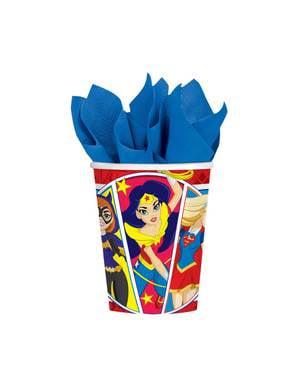 Sæt af 8 DC superhelte piger kopper