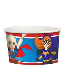 Set de 8 vasitos de helado DC Super Hero Girls