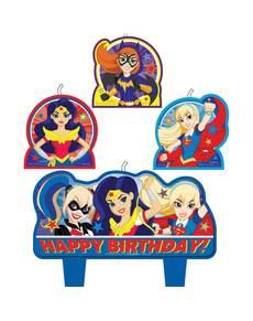 Set de 4 velas DC Super Hero Girls