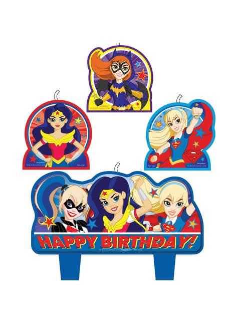 4 bougies DC Super Hero Girls