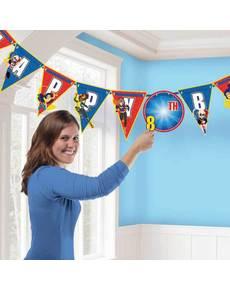 Guirlanda cumpleaños personalizable DC Super Hero Girls