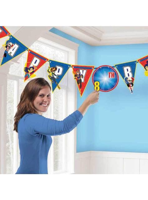 Guirnalda cumpleaños personalizable DC Super Hero Girls