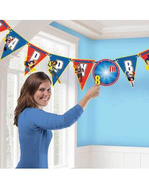 Customizable DC Super Hero Girls birthday garland
